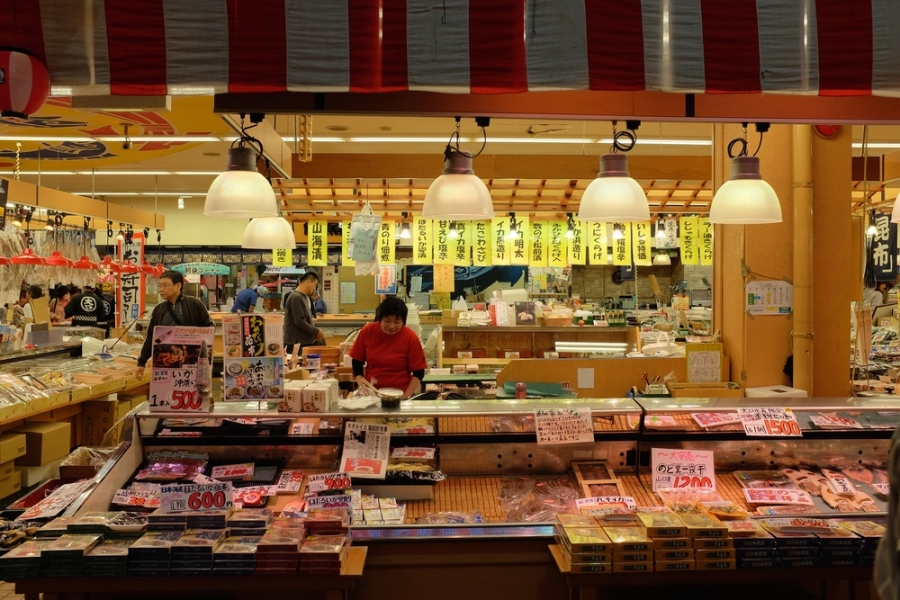 Sea food at the market