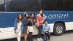 Classmates by the Kanazawa University school bus