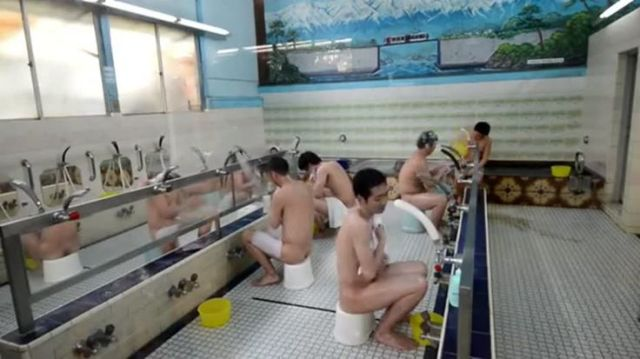 Men bathing at an onsen. Image from https://www.pinterest.com/pin/464926361502378098/