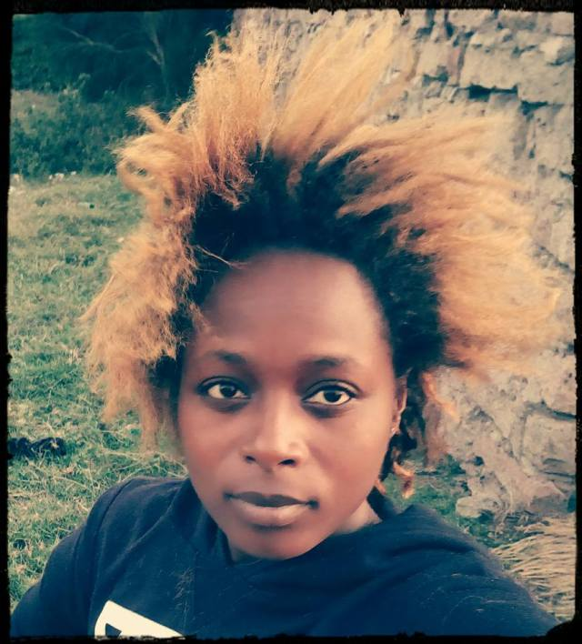 My hair blow dried and fluttering in the Utawala breeze. Nairobi, Dec, 2016