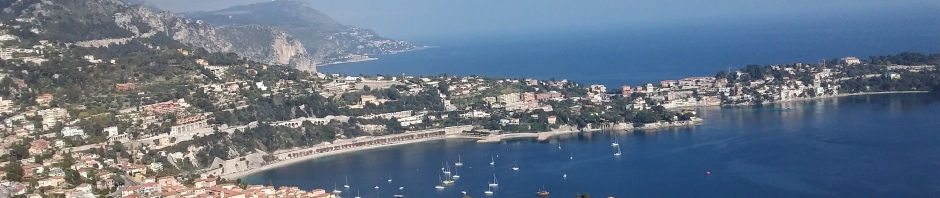 A view of the Port of Nice from Castle Hill