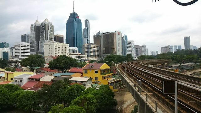 View of Kuala Lumpur from the train.