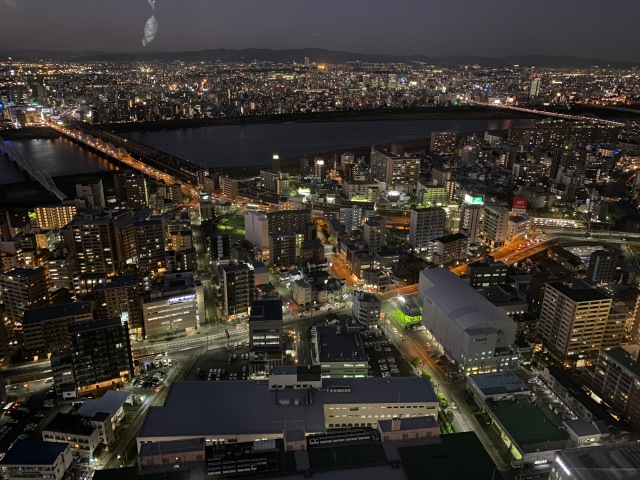 Osaka at night. This picture doesn't do it justice.